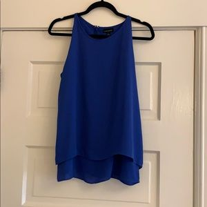 Cynthia Rowley Blue Double Layer Sleeveless Blouse